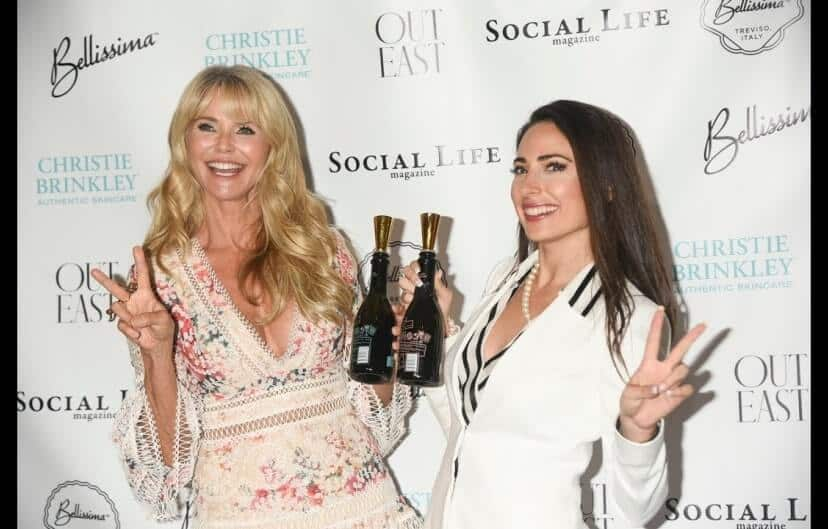 Carissa Kranz & Christie Brinkley take red carpet feat. BeVeg Certified Bellissima Prosecco wines
