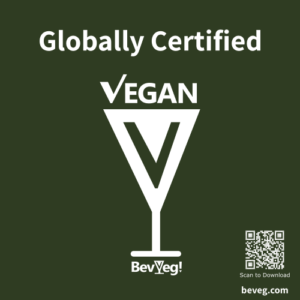 BeVeg Vegan Certification Sticker for Vegan Alcohol